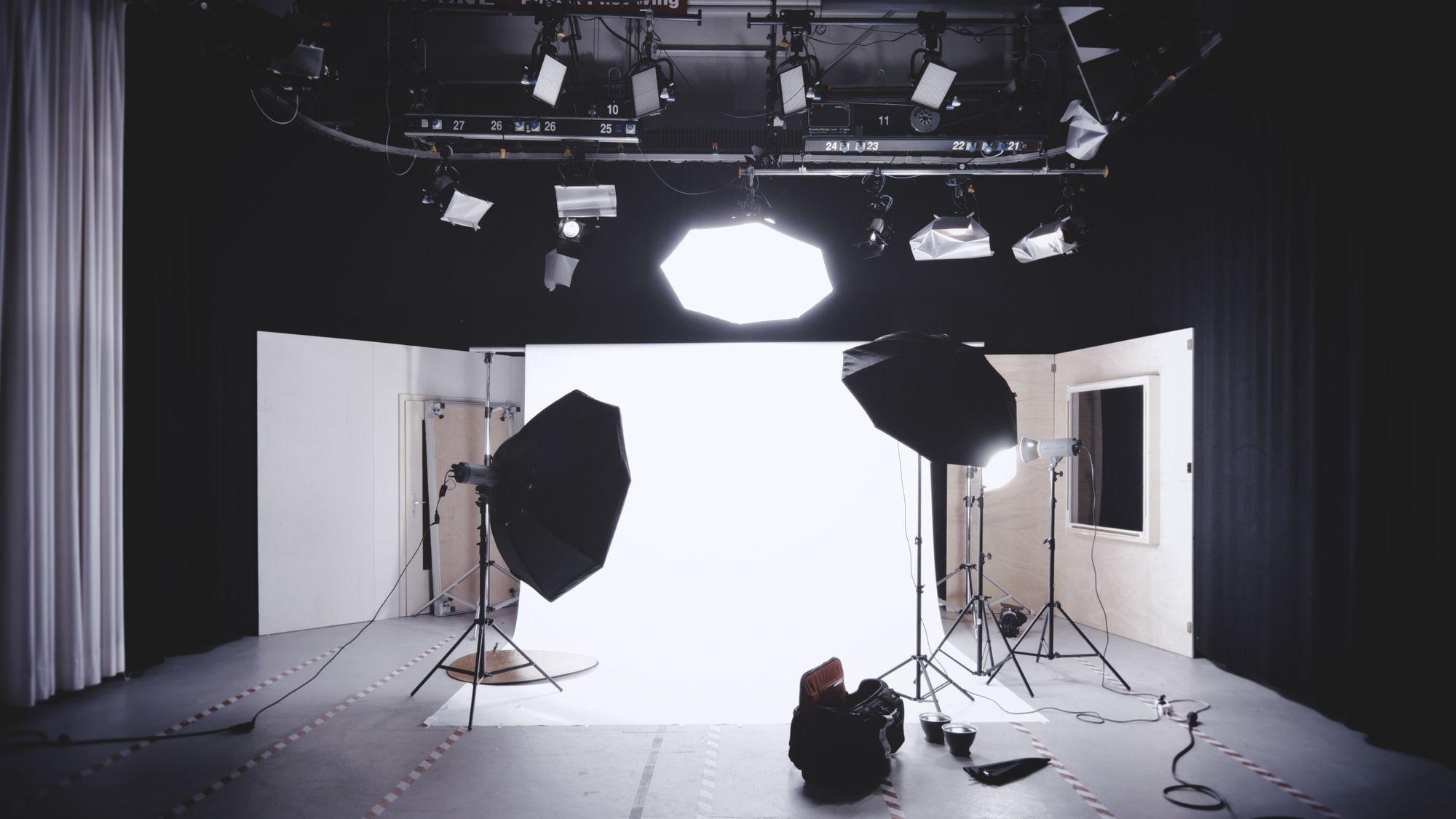 A lighting studio for filmmaking